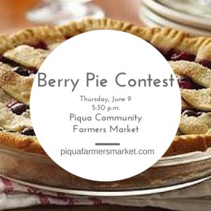 Farmers Market to host Berry Pie Baking Contest.