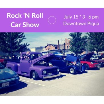 CAR SHOW ADDED TO THE ROCK PIQUA! EVENT IN DOWNTOWN PIQUA ON JULY 15
