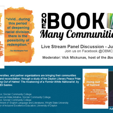 Dayton Literary Peace Prize Winner, Rising out of Hatred, to be Focus of Community-Wide Discussion and Panel Discussion